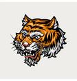 colorful ferocious tiger head vector image vector image