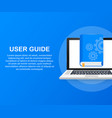 concept user guide book for web page banner vector image vector image