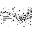 coronavirus pandemic 2020 black-and-white poster vector image