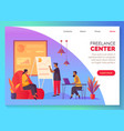 coworking center freelancer work office space vector image