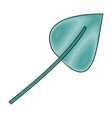 crayon silhouette of green light color of aovada vector image vector image
