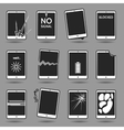 Damaged mobile phone set vector image