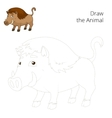 Draw the forest animal boar cartoon vector image vector image