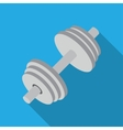 dumbbell with long shadow vector image