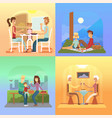 family holiday cartoon concepts mom dad son vector image vector image
