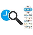 Find Time Icon With 2017 Year Bonus Symbols vector image vector image