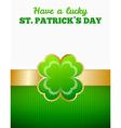 Four-leaf clover design vector image vector image