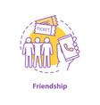 friends concept icon vector image