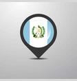 guatemala map pin vector image