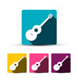 guitar icon guitars symbols music design vector image