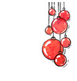 hanging red watercolor christmas ball winter vector image vector image