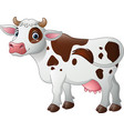 happy cartoon cow vector image vector image