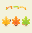 Happy thanksgiving turkeys disguised as maple vector image vector image
