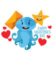 happy valentines day love message vector image