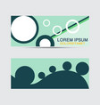 horizontal business card with front and back vector image