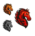 Horse stallion heraldic icons vector image vector image