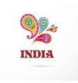 India - Mandala oriental pattern Indian icon vector image vector image