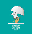 International chef day greeting card or banner