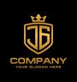 jg logo vector image vector image