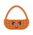 kawaii picnic basket vector image vector image