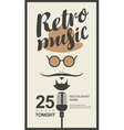 man face with retro music in hipster style vector image vector image