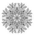 mandala vintage flower decorative elements vector image