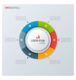 modern style circle donut chart infographic vector image vector image
