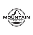 mountain and water surface logo design vector image vector image