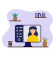 online studying at home distance education vector image