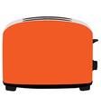 Orange toaster vector image vector image