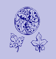 ornament sketch vector image vector image
