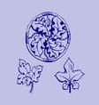 ornament sketch vector image vector image