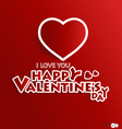 Paper heart shape symbol for Valentines day vector image vector image