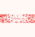 realistic valentines day banner background cute vector image