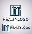 realty logo 2 3 vector image vector image