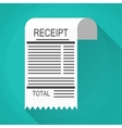 Receipt and Invoice icon vector image vector image