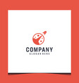 rocket logo design inspiration in red color vector image