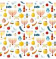 rosh hashanah shana tova seamless pattern vector image
