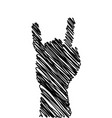 scribble style hand gesture silhouette vector image