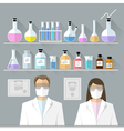set - chemical designer Flat design vector image