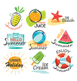 Set of hand drawn summer signs and banners vector image vector image