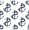 ship anchors nautical seamless pattern vector image vector image