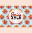 spring sale floral advertizing poster board vector image vector image
