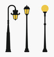 street lamps set vector image