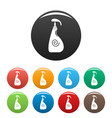 sunscreen dispenser icons set color vector image