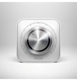 Technology Icon with Metal Textured Knob vector image