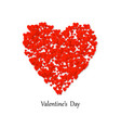 valentines day heart shape with lot valentines vector image