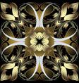 vintage floral gold paisley damask baroque vector image vector image
