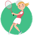 Young tennis player vector image vector image