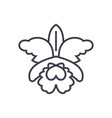 flowerorchid line icon sign vector image
